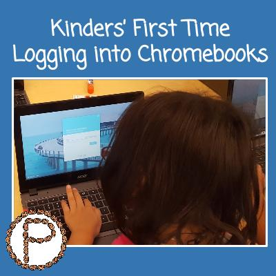 Kinders' First Time Logging into Chromebooks