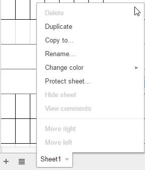 duplicate a sheet