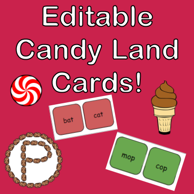 image about Printable Game Pieces titled Editable Sweet Land Playing cards Discovering with Christine Pinto